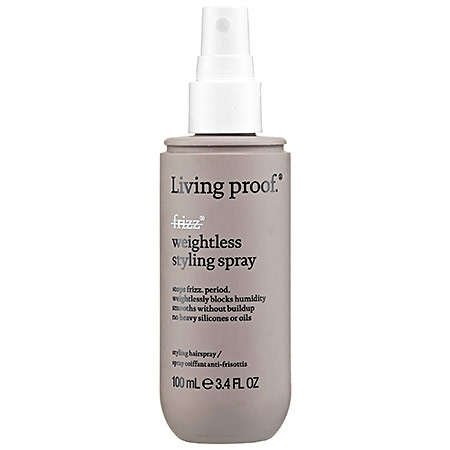 Living Proof Weightless Styling Spray  $26      - this stuff has been my lifesaver this summer. With the humidity kicking in, this will help smooth your hair without weighing it down. It's great for beach days or a hot night out. Plus,      it is the first new anti-frizz technology in over 30 years that doesn't rely on silicones or oils.      So no worries on greasing your hair down either!
