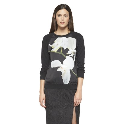 Altuzarra for Target Orchid Print Sweatshirt- Black  $29.99