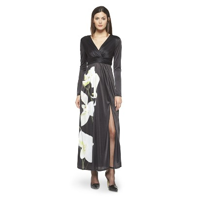 Altuzarra for Target Maxi Dress Satin Floral- Black  $69.99