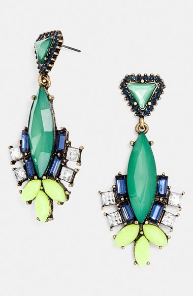 Baublebar Space Marquis drop earrings