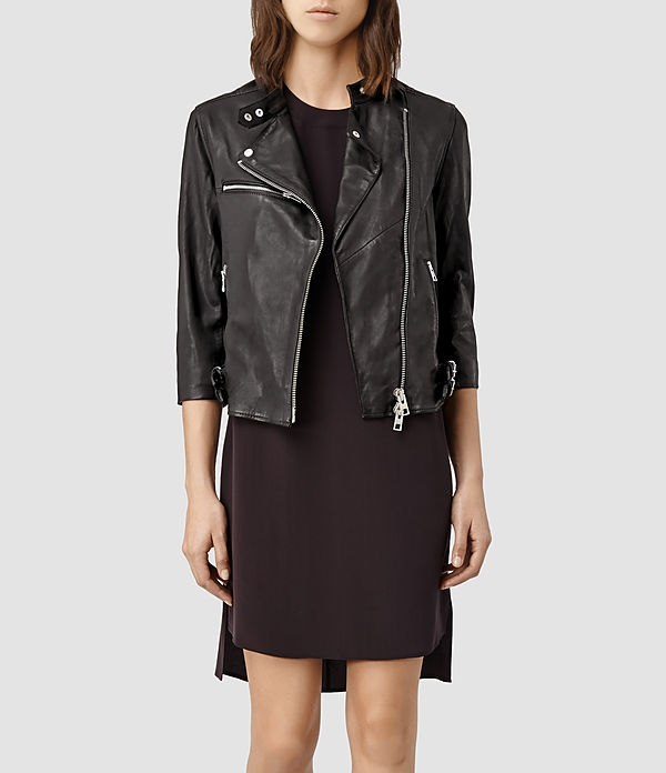 All Saints Leather Biker Jacket $540