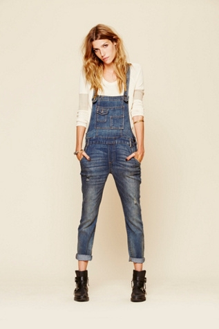 Free People Denim Washed Overall $98
