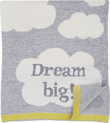 "Cloud & ""Dream Big"" Intarsia-Knit Blanket   ($115)"