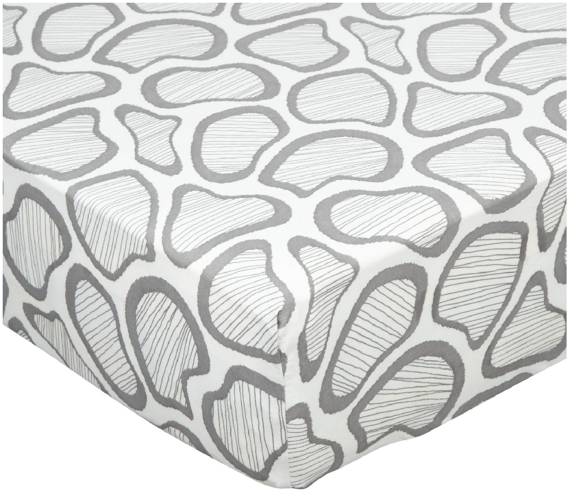 Argington Fitted Organic Crib Sheet - Spots   ($32)