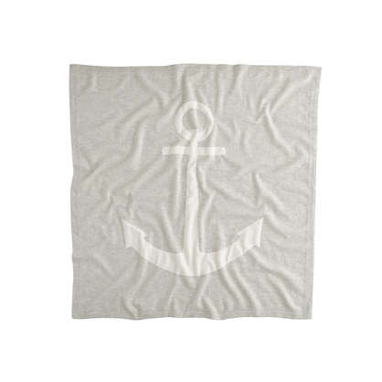J Crew Baby cashmere blanket in anchor        ($188)
