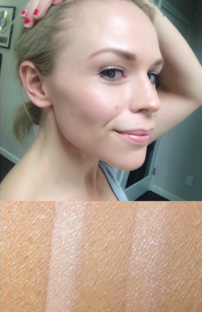 Here I have on the Wonderglow Primer, Foundation Fair 4 and Retoucher stick.