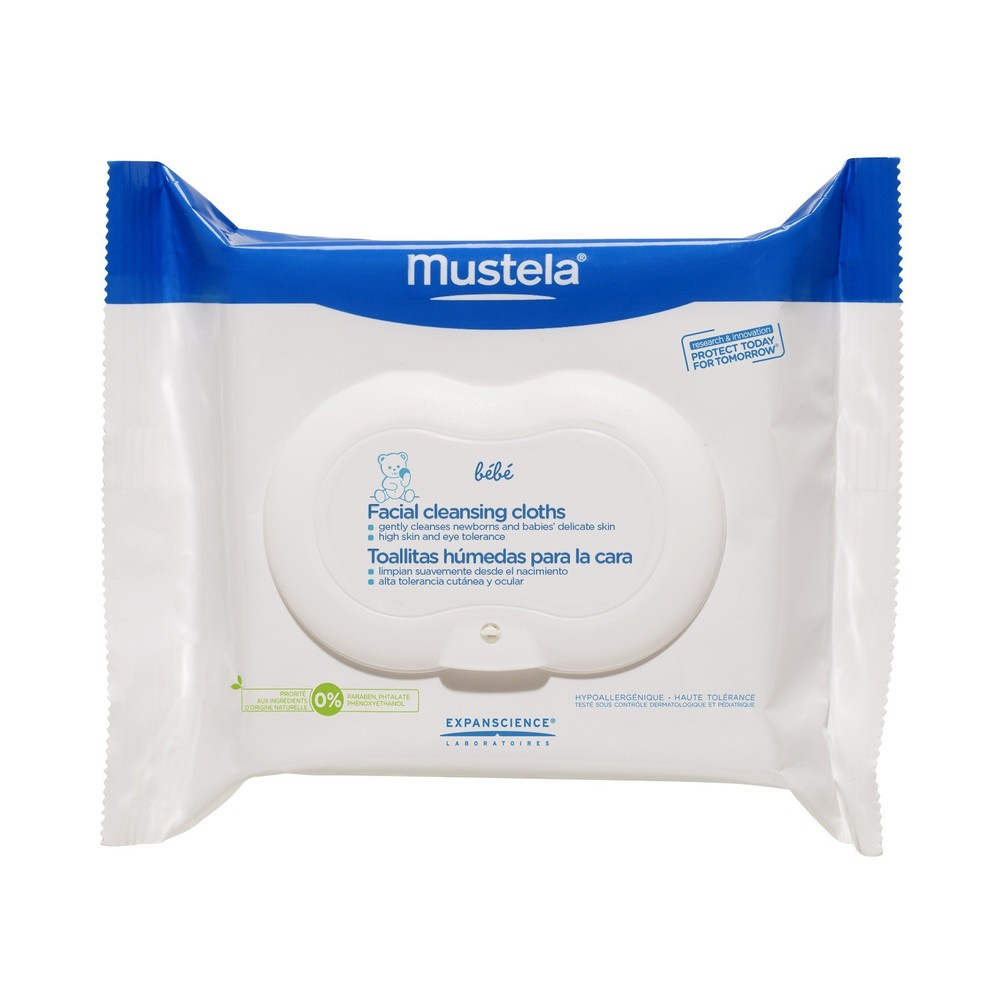 If you've read my former beauty posts than you know how much I love the  Mustela face wipes ! Not only for my child but I use them as well. I always keep a pack in a bathroom to remove makeup and after workout sweat/dirt from my face.