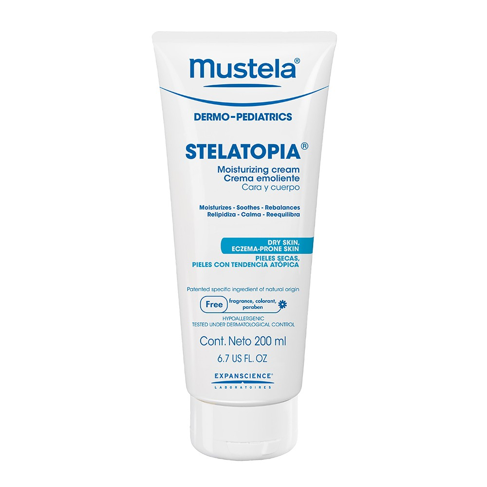Stelatopia  is amazing, especially for rebalancing dry, eczema-prone skin. This is gentle yet firm enough to help soothe dryness and irritation.