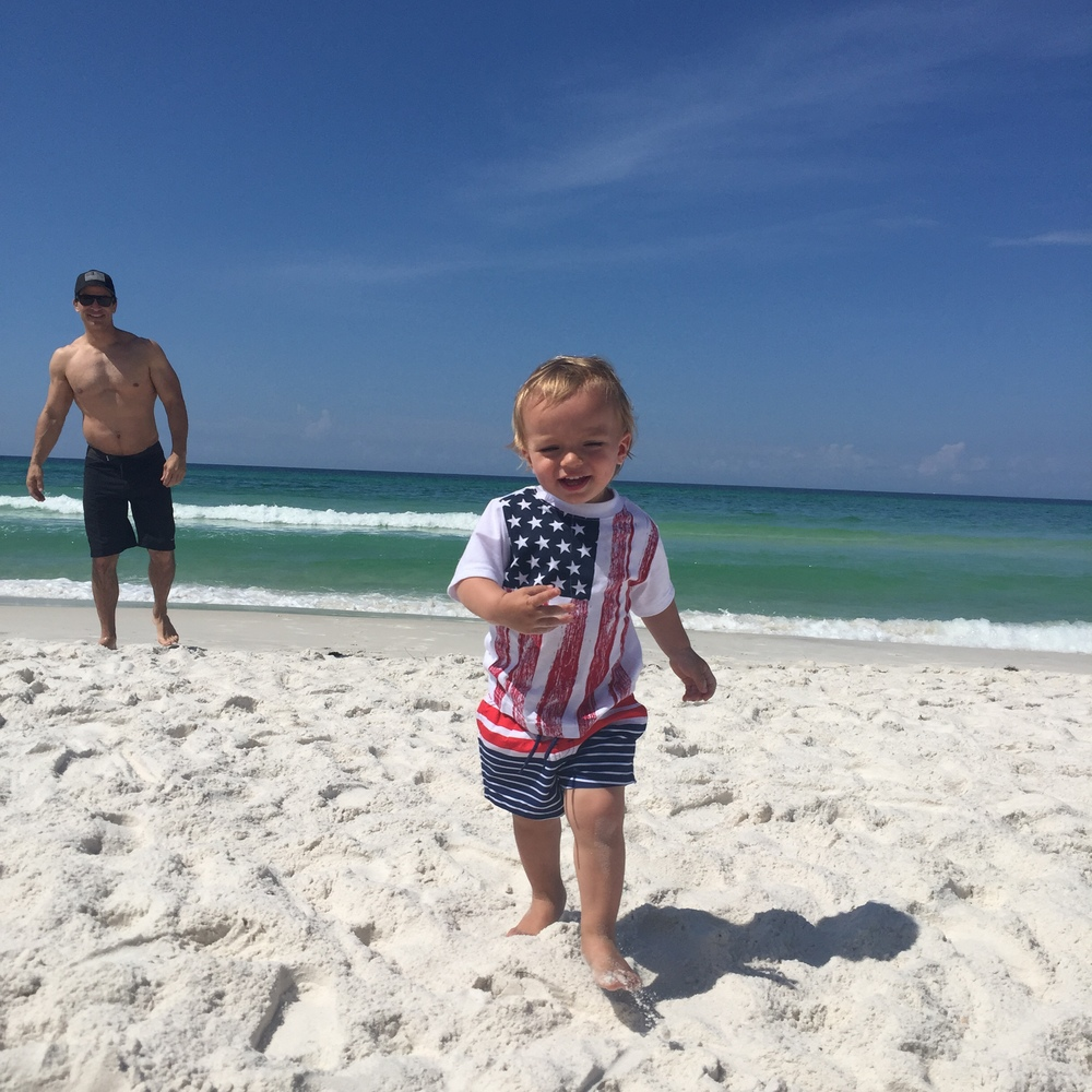 My boys enjoying the Emerald Coast