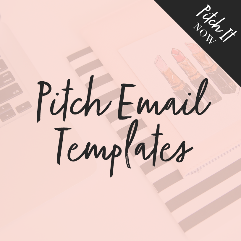 pitch email templates