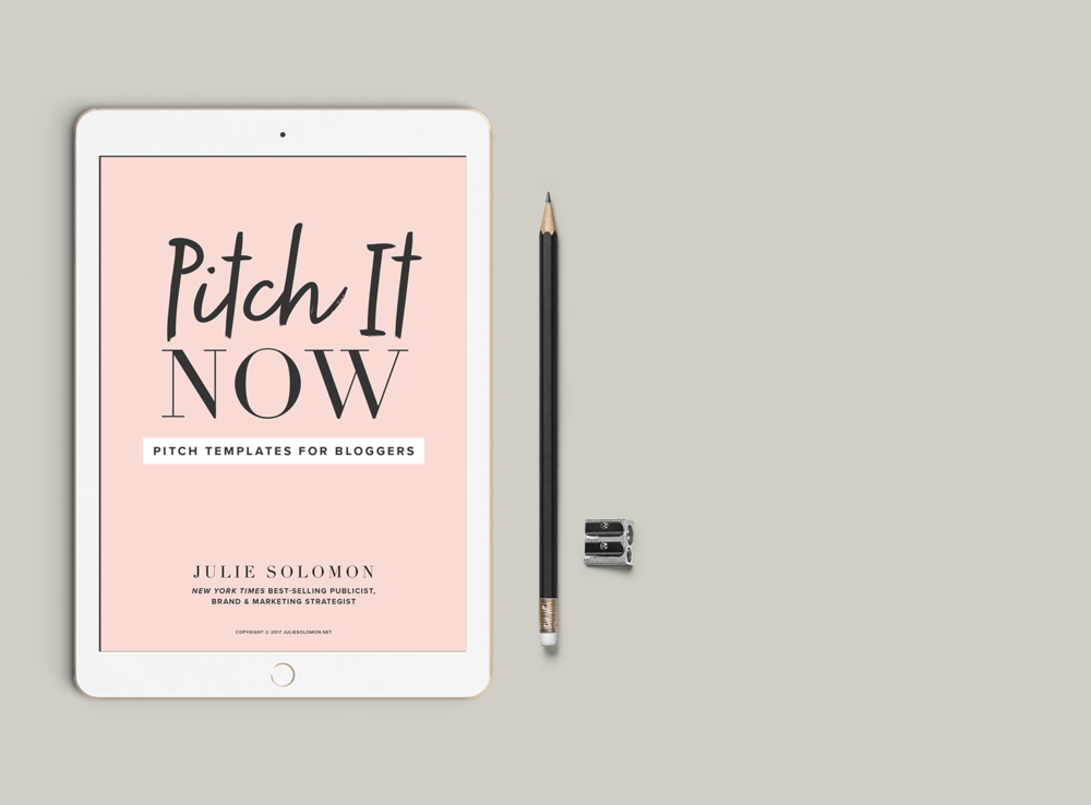 Pitch It Now  - Pitch It Now is a pitch ready PDF package that includes 5 email templates designed to help you craft smart, action based and reply-worthy pitch related emails to brands that will open the communication doors needed for you to build relationships and grow your income.