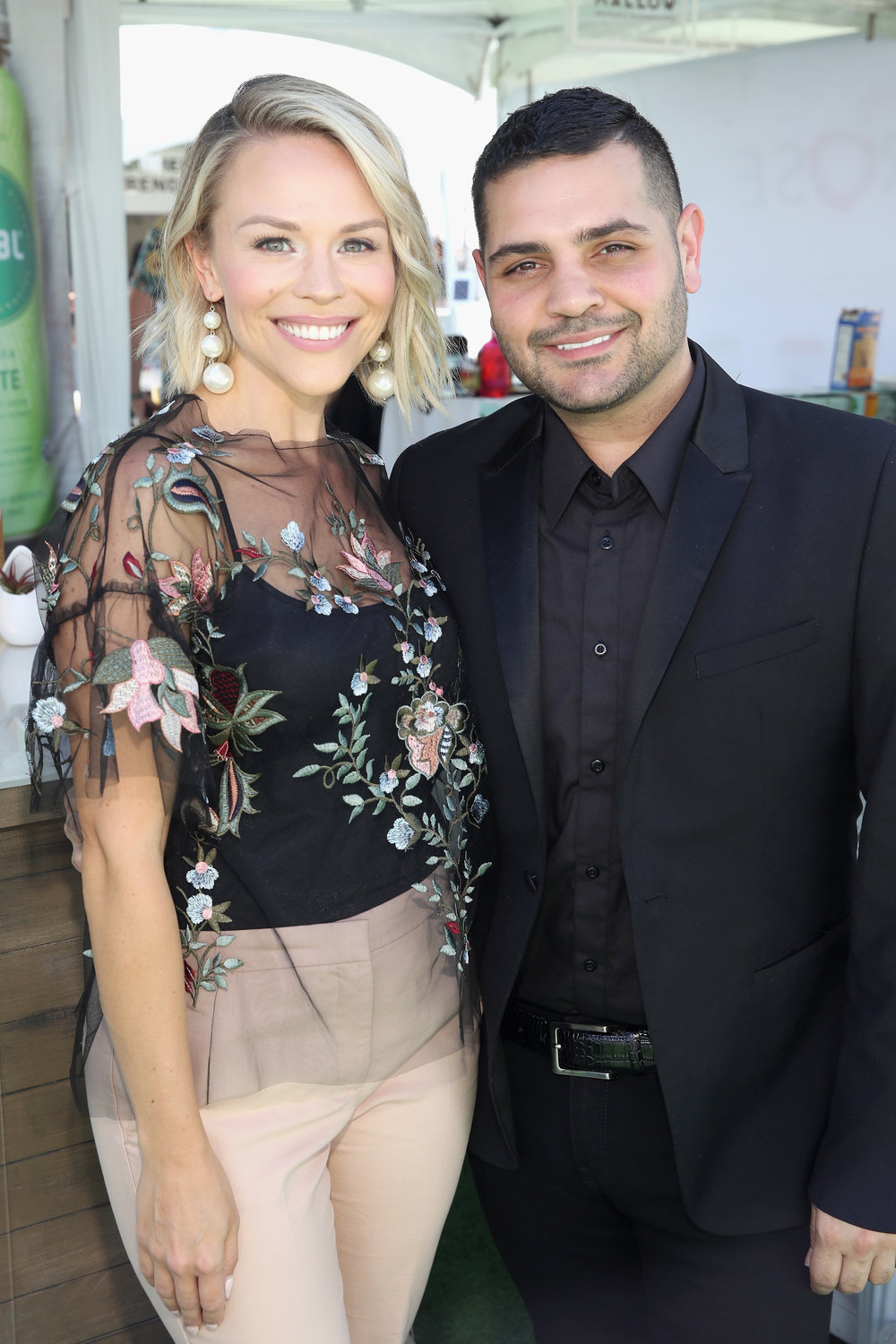 Julie with NYFW designer Michael Costello -