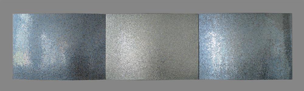 "Daybreak 2017 Glass, Steel 33""h x 138""w x 3""d"