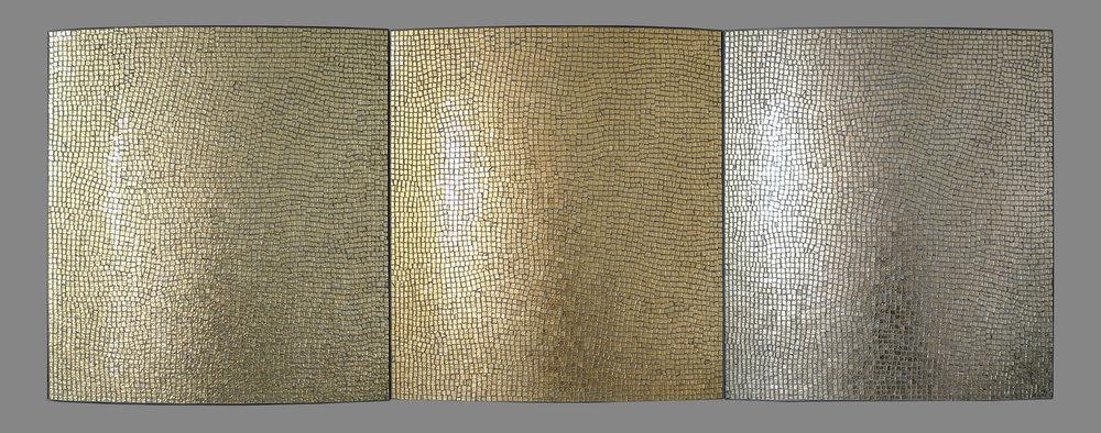 "Early Light 2017 Glass, Steel 30""h x 84""w x 3""d"