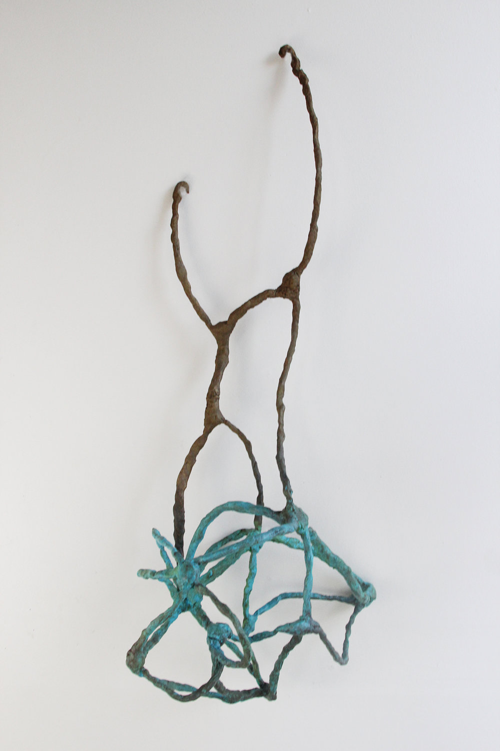 "Nest  2016 Bronze, Paint. 36""h x 13""w x 11""d"