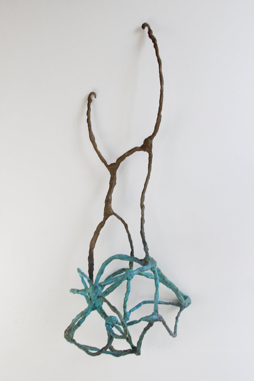 """Nest 2016 Bronze, Paint.36""""h x 13""""w x 11""""d"""