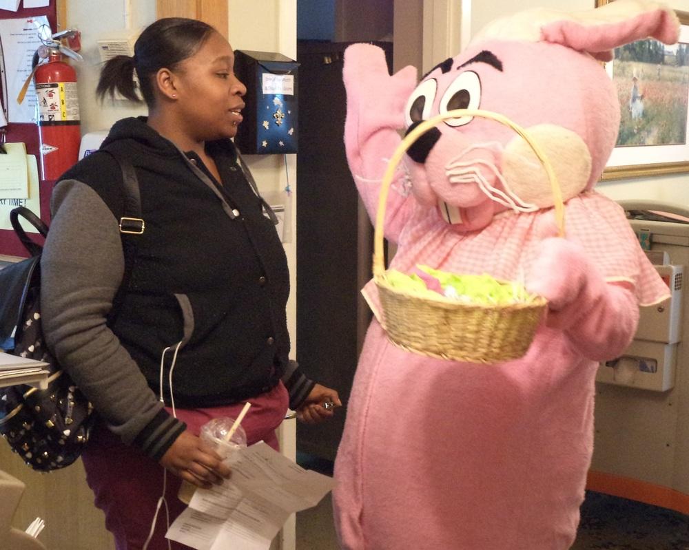 "CNA Symone Johnson apparently speaks ""bunny."""