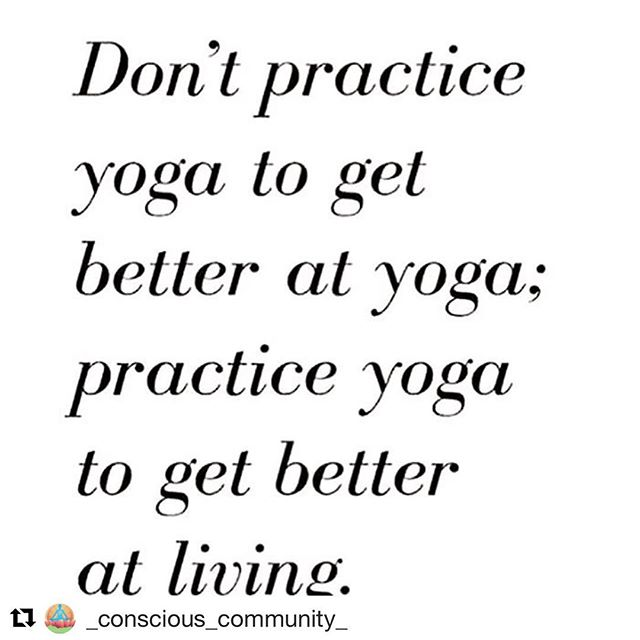 "100%. The ""why"" matters! . . . #Repost @_conscious_community_ with @get_repost ・・・ Yesss 💙 Take the lessons learned on the mat, off the mat and into the world! 🙏🌎✌️ Do you practice yoga? 👇🏽 I fell in love a few years back and life has been better ever since 🤗⠀ #YogaHeals"