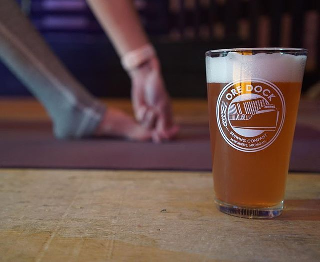 Yoga & Hops is in two weeks. The day after Christmas. When you think you're spent, but actually you've got it in you to move a little bit and then afterwards you realize you're better because you did it.  I've got you! Ticket link in bio. #effortandease #yoga #beeryoga #yogaandbeer #christmascheer #marquettemi @oredockbrewing