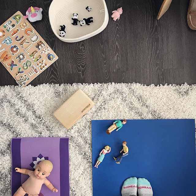 "This is about as ""zen"" as it gets in our house. At least I got my yoga in! #reallife #yogawithtoddlers #littleyoga #messyzen #selfcaretogether"