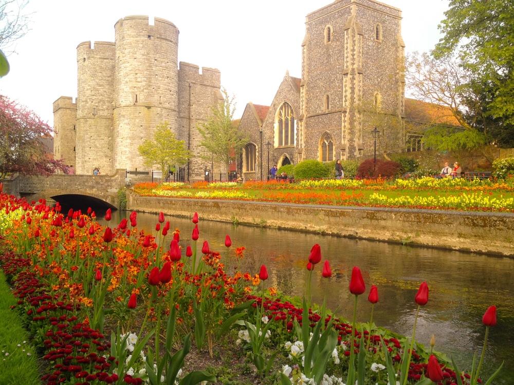 Canterbury, nada más bajarnos del tren.