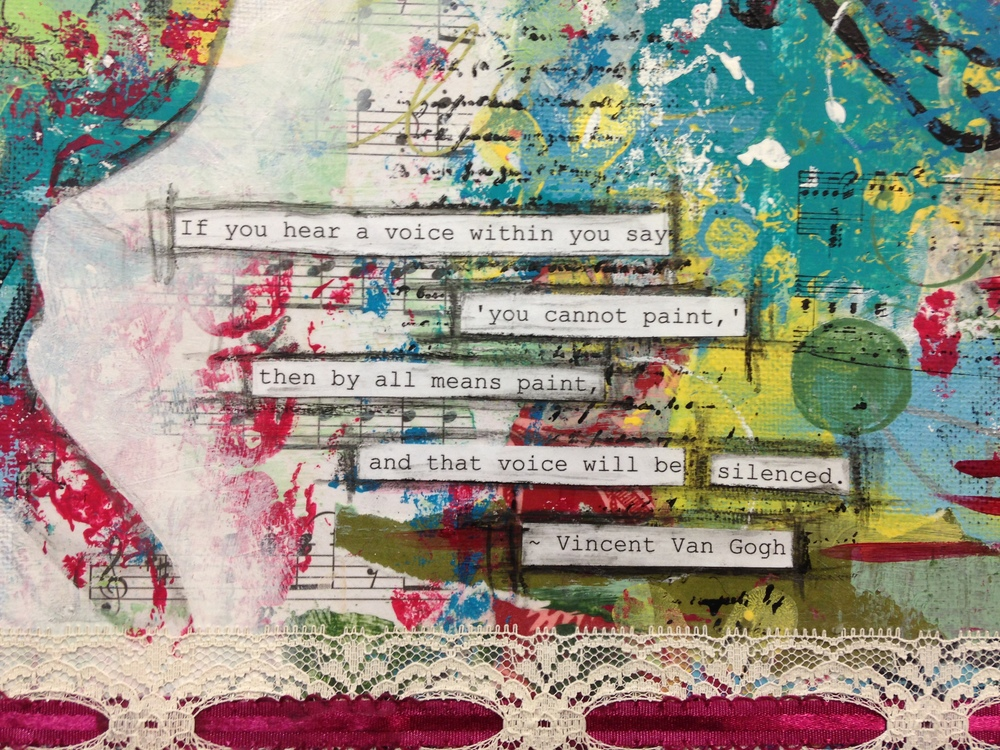 Close up, Mixed Media, by Jennifer Snellings