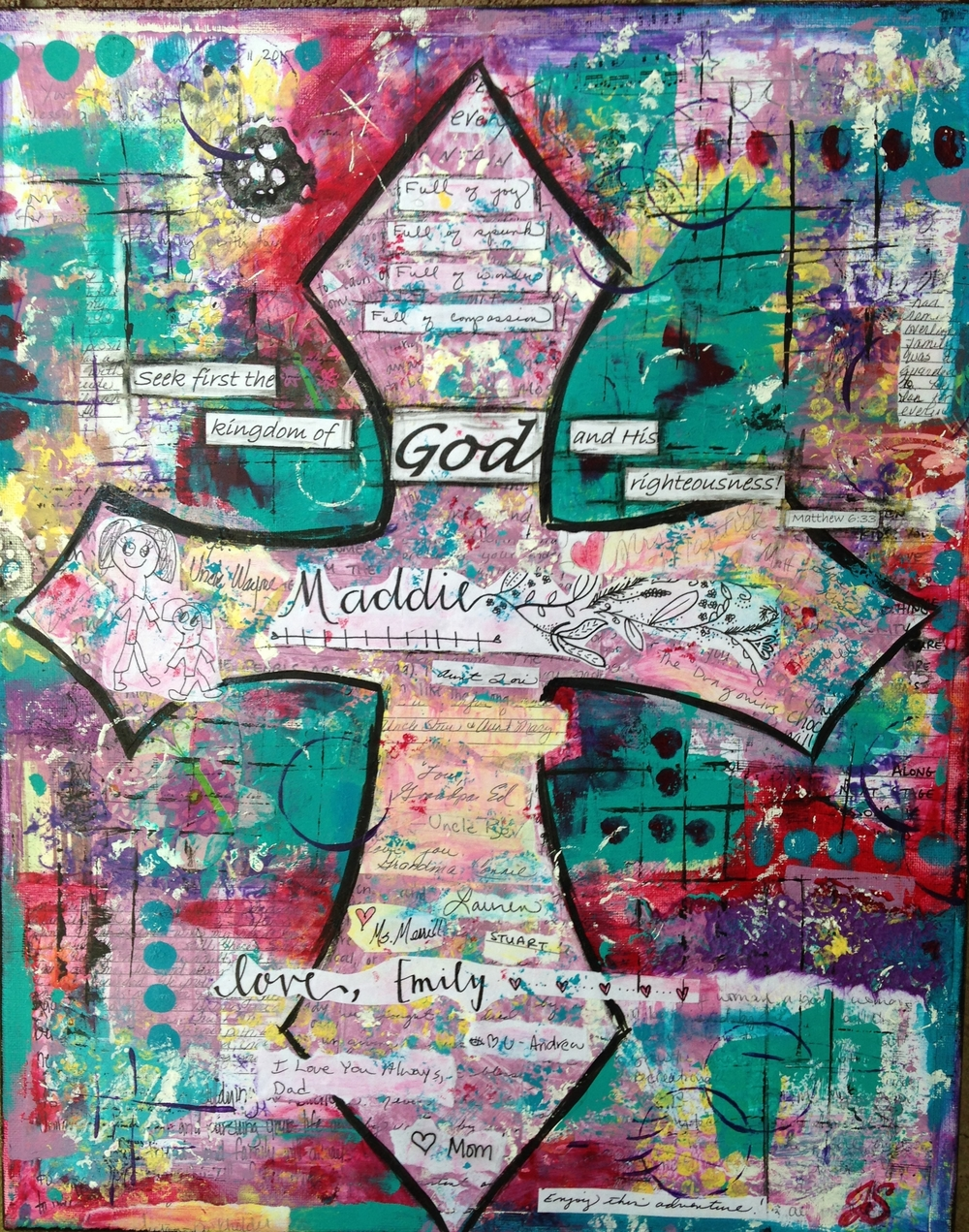 Mixed Media Legacy Cross by Jennifer Snellings