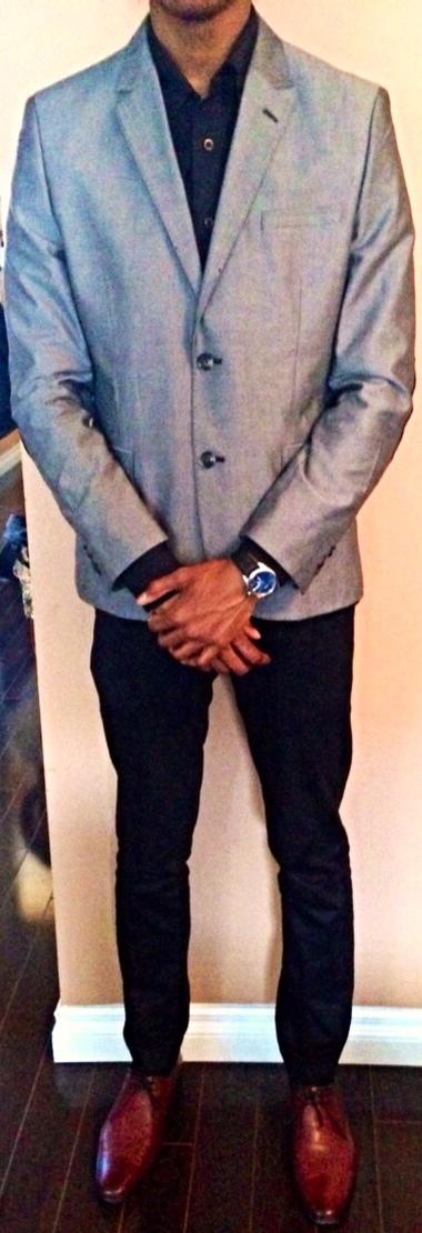 Blazer: H&M Dress Shirt: Stava's Dress Pants: TopMan Shoes: Ted Baker