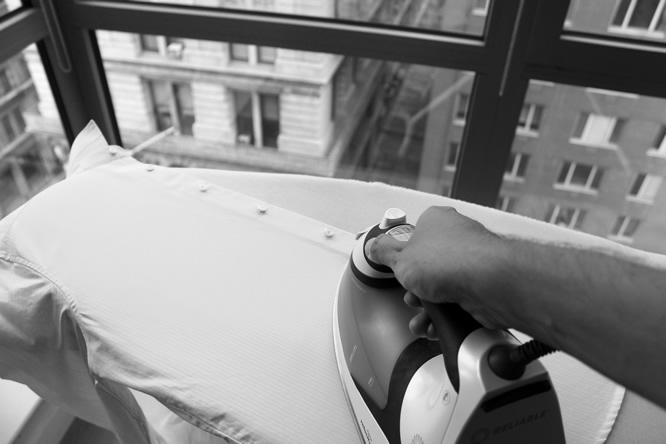 Tips on how to iron your shirt:  http://www.artofmanliness.com/2011/04/06/how-to-iron-shirt/