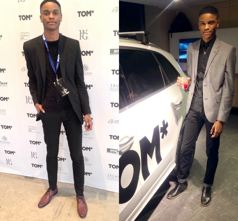 TOM fashion show – day one (left), and TOM opening party (right)