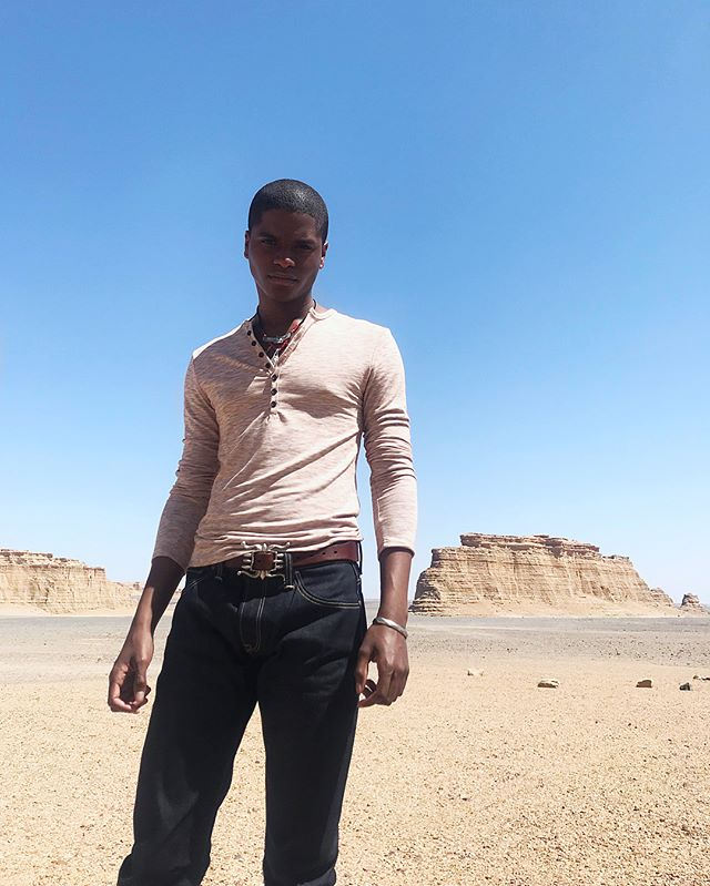 off-grid. 🏜📍 #BTS #mensfashion #photography