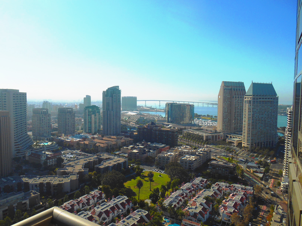 View from the 35th floor of the Electra building in San Diego, CA 92101