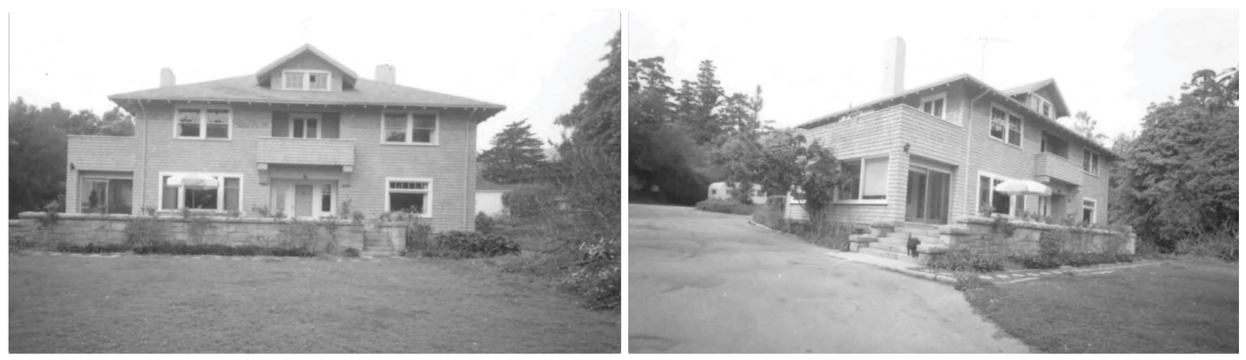 The historic Oglivy house in Montecito circa 1952