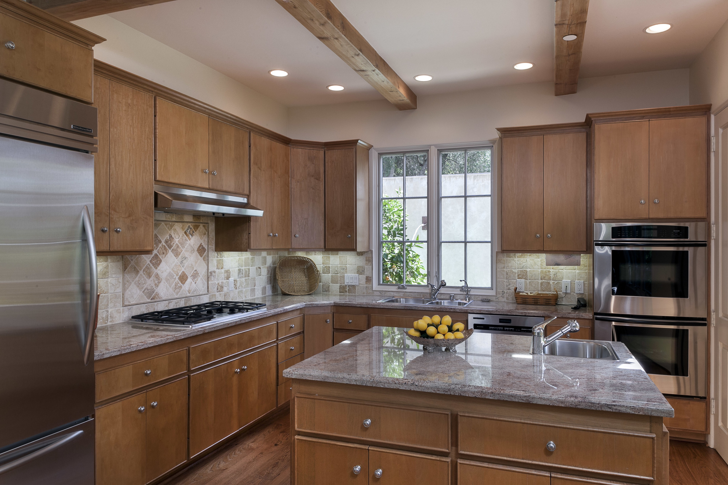 smaller beautiful granite kitchen in montecito