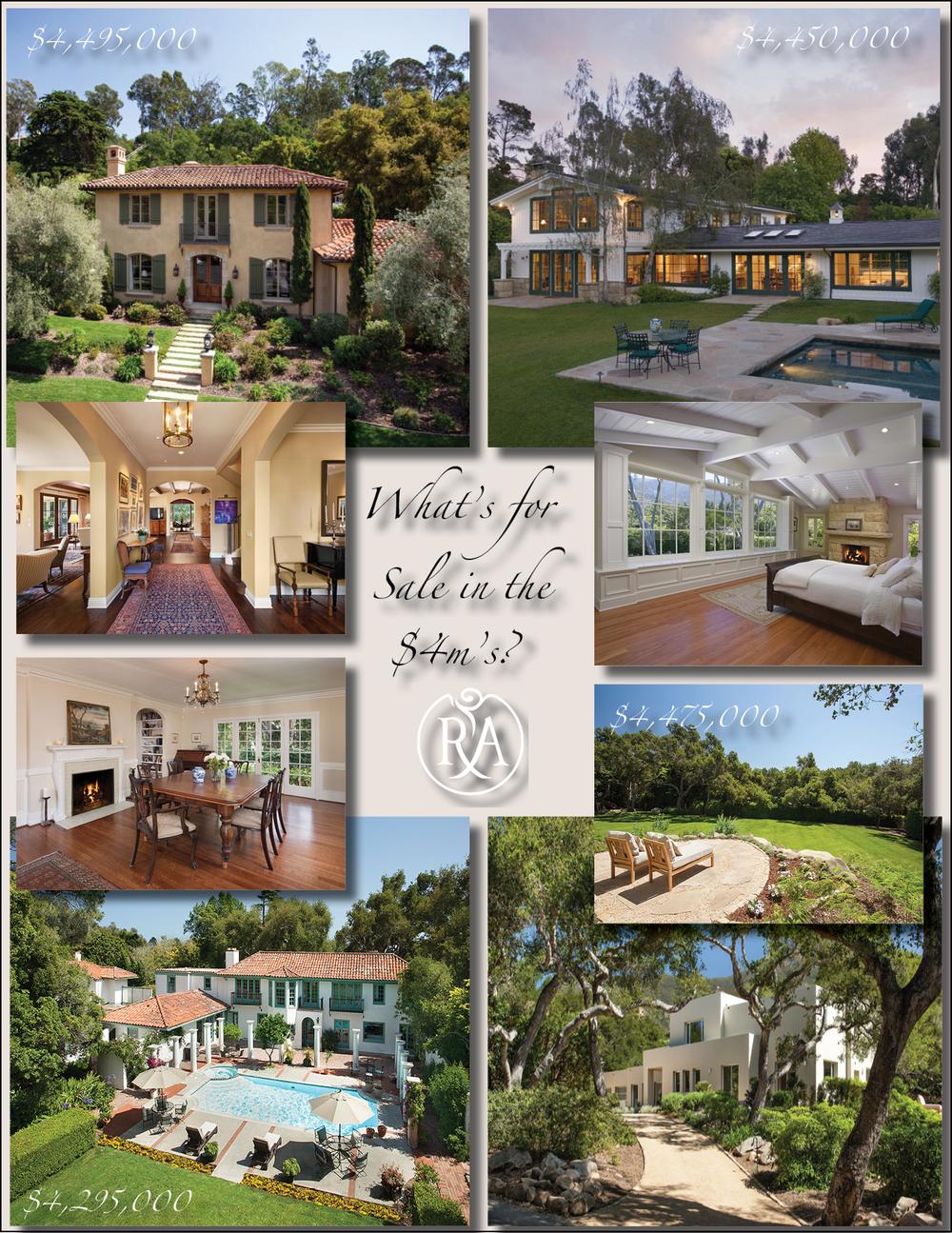 Four Montecito homes for sale