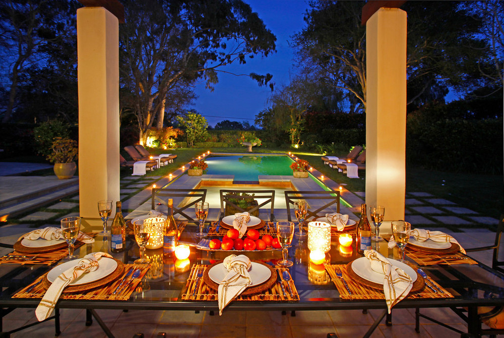 outdoor dining in Montecito california