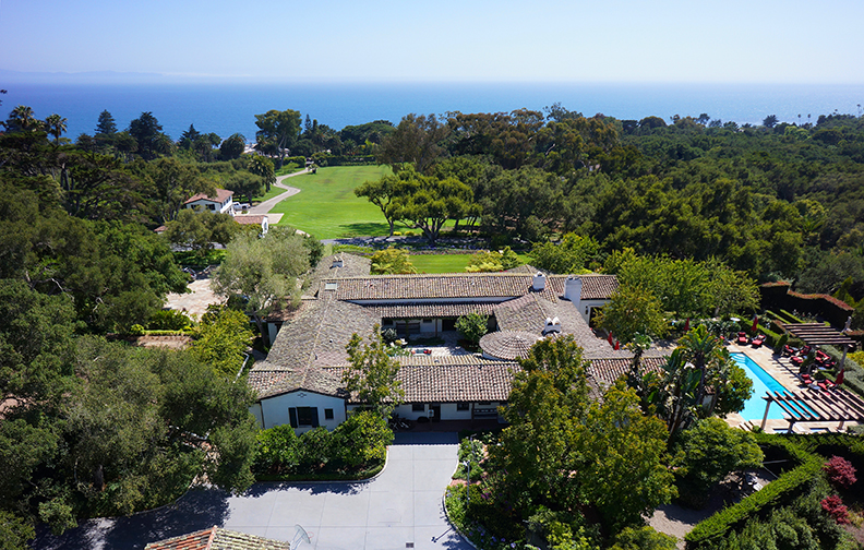 An ocean-view estate in Santa Barbara, California offered by Riskin Associates