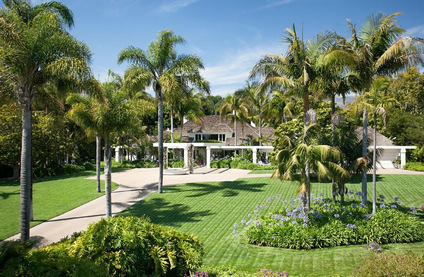 Ocean view estate in Hope Ranch, California