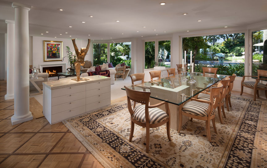 Chic interiors of this Ocean View Santa Barbara estate