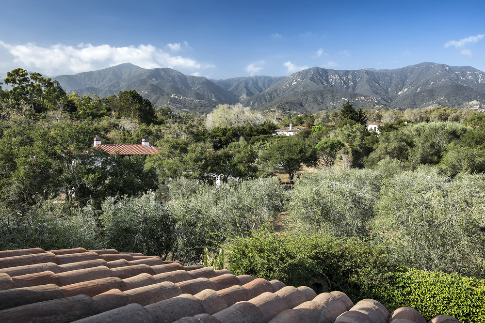 Home for sale Montecito Santa Barbara California equestrian horses ocean view mountain view 308 Ennisbrook Riskin Partners Village Properties