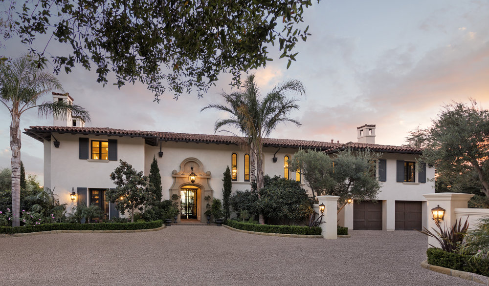 East Mountain Drive Montecito CA 93108 Ocean View Estate for Sale Riskin partners Mansion Tennis court Pool Guest House Private Estate