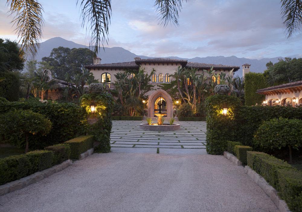 2733 Sycamore Canyon Extravagant homes in montecito santa barbara california mediterranean estate private rebecca riskin riskin partners village properties