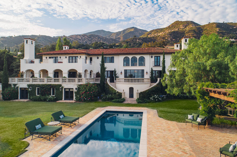 East Mountain Drive Montecito Ocean View Estate Mansion House for Sale Pool Tennis Guest House 93108