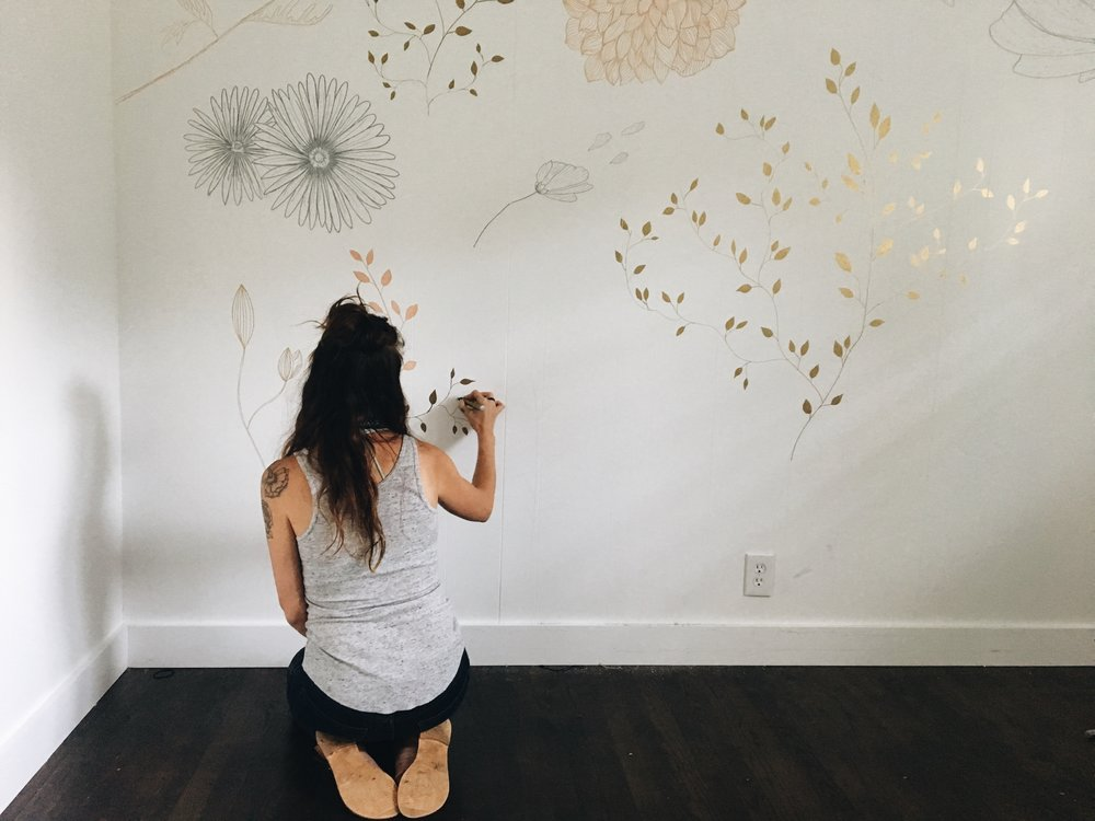 Hand Painted Wallpaper Chandra rae