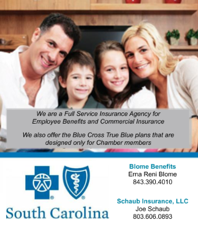 Schaub Insurance is a full-service agency for employee benefits and commercial insurance, offering True Blue plans from BCBS designed exclusively for Chamber members.