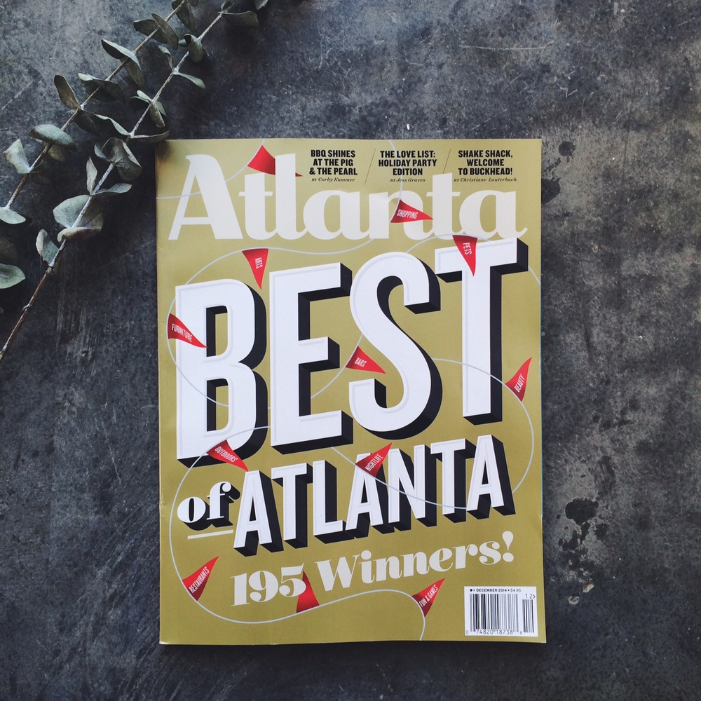 Subscription to local mag. $12 for one year // atlanta magazine.