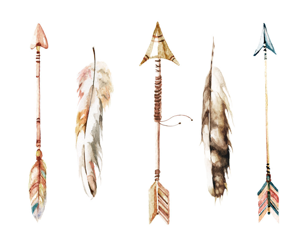Watercolor-Arrows-and-Feathers-Landscape--8x10.jpg