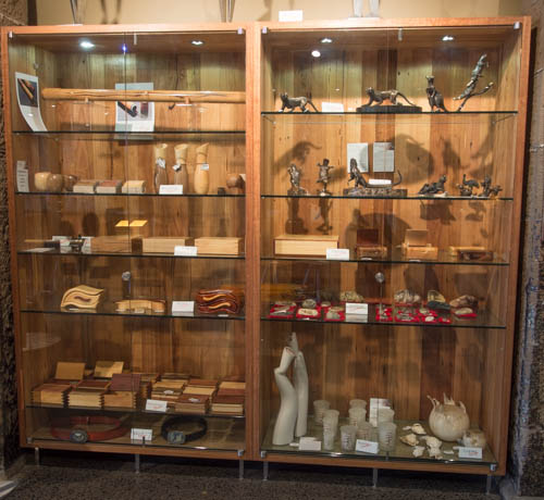 Recycled Timber and Glass Display Cases - IXL Design