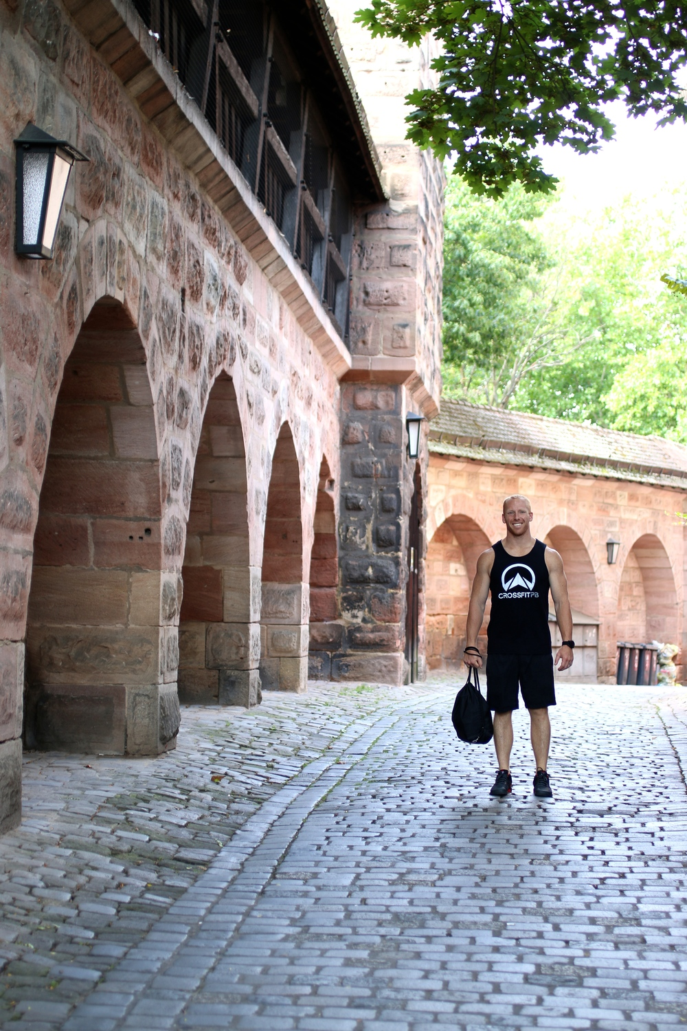 My cute bag boy and my favorite street in Nuremberg!