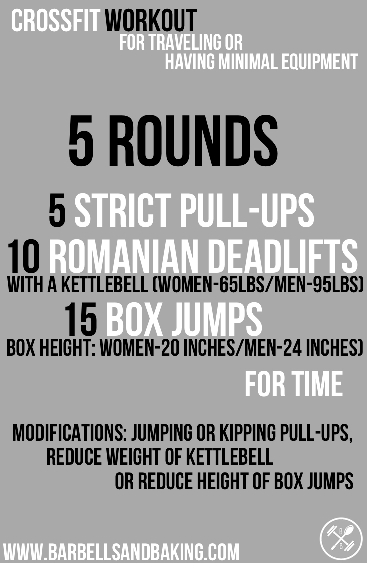 CrossFit Workouts for Traveling or Having Minimal Equipment | Double-Unders, Romanian Deadlifts, & Squats | www.barbellsandbaking.com
